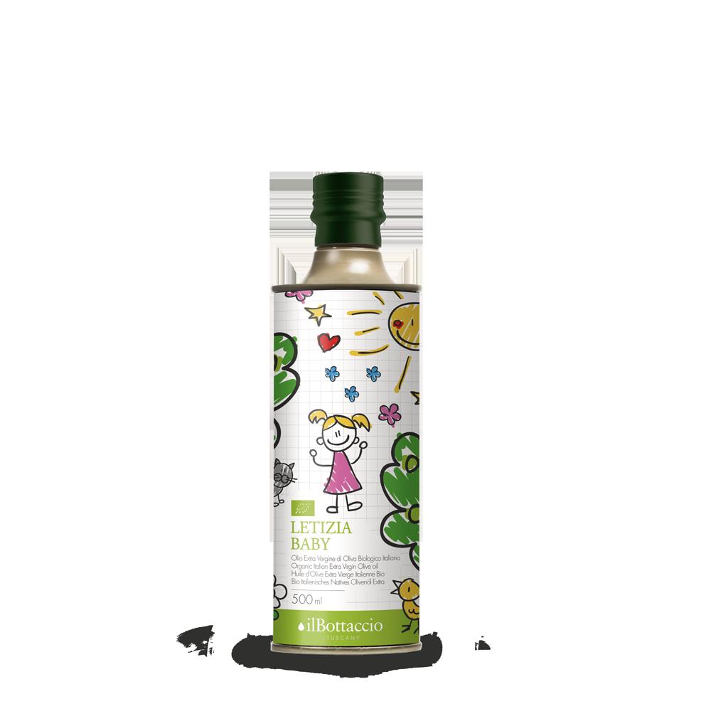 Olio extravergine di oliva biologico per bambini