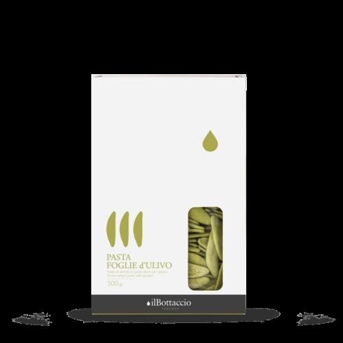 Nudeln mit Spinat Olivenblättern