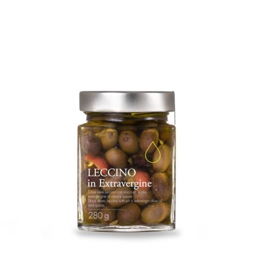 Olive Leccino condite in olio extravergine toscano