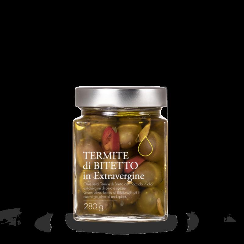 Olive verdi Termite di Bitetto in olio extravergine toscano