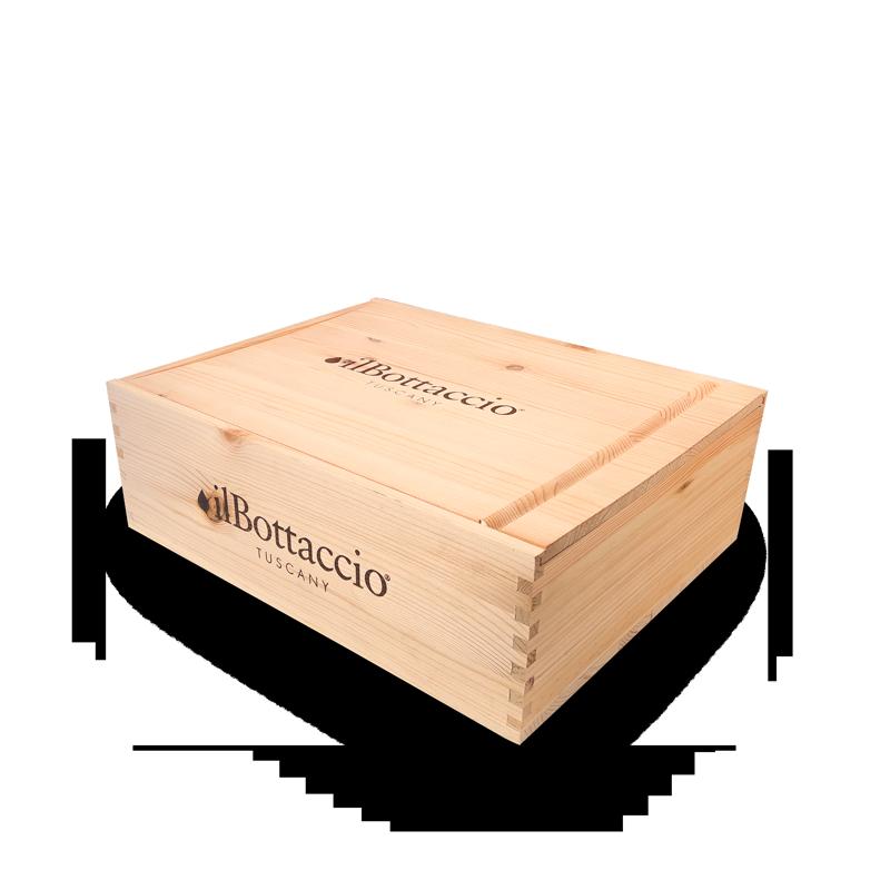 Confezione regalo gourmet in legno piccola