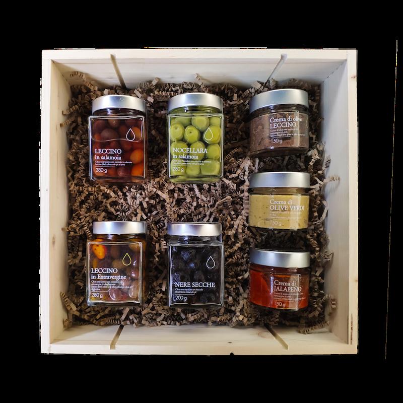 Cofanetto regalo olive e creme